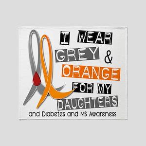 Diabetes MS Daughters Throw Blanket