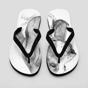 Basset Hound 001 Flip Flops