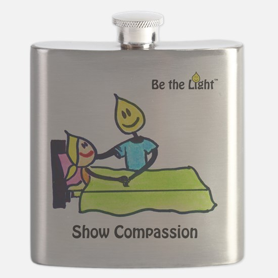 Show Compassion t shirt cafepress Flask