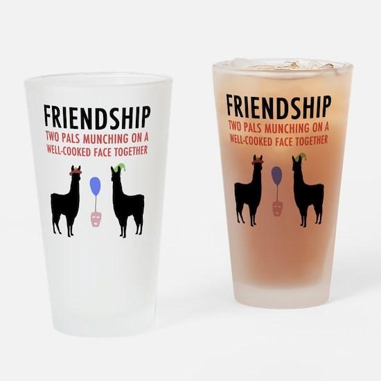 Llamas-D14-WhiteApparel Drinking Glass