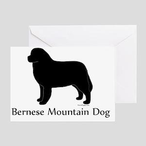 BerneseSilhouette Greeting Card
