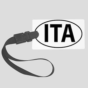 ITA - Italy Oval Large Luggage Tag