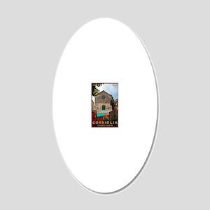 Cinque Terre - Corniglia 20x12 Oval Wall Decal