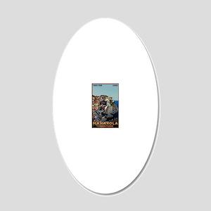 Cinque Terre - Manarola 20x12 Oval Wall Decal