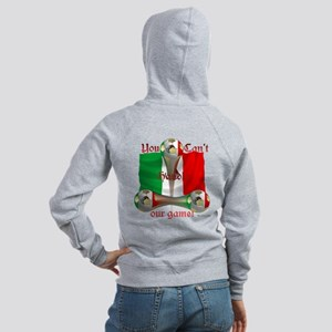 Mexico Soccer Game On Women's Zip Hoodie