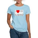 I LOVE MY HUSBAND Women's Pink T-Shirt