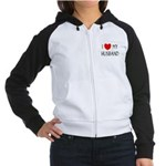 I LOVE MY HUSBAND Women's Raglan Hoodie