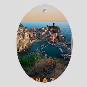 Cinque Terre - Vernazza Oval Ornament