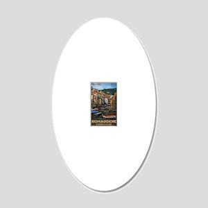 Cinque Terre - Riomaggiore 20x12 Oval Wall Decal