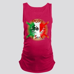 Mexican Soccer Soul Maternity Tank Top