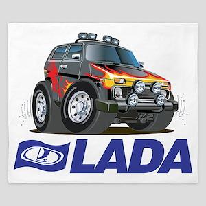 Funny Lada Niva plus logo King Duvet