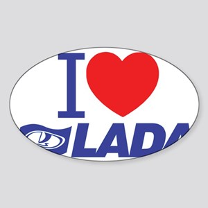 I love Lada Sticker (Oval)