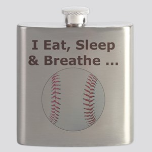 Baseball Eat Sleep Breathe Iphone4 Hard Slid Flask
