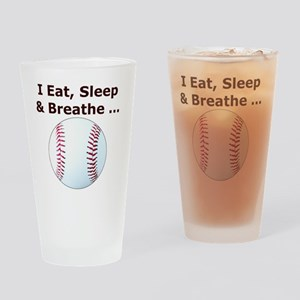 Baseball Eat Sleep Breathe Iphone4  Drinking Glass