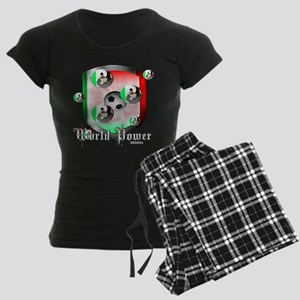 Mexican World Power Women's Dark Pajamas
