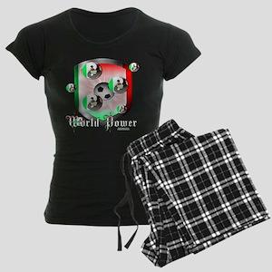 Mexican World Power Women's Dark Pajamas
