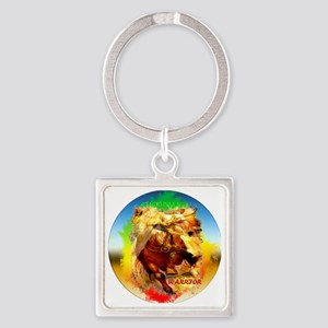 clock right sign lion-sticker Square Keychain
