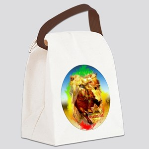 clock right sign lion-sticker Canvas Lunch Bag