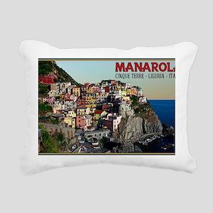 Manarola Town Rectangular Canvas Pillow