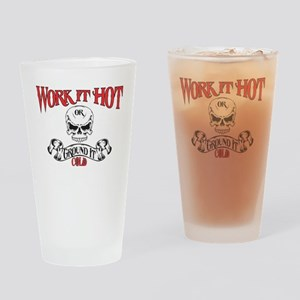 work it hot Lineman logo 3 Drinking Glass