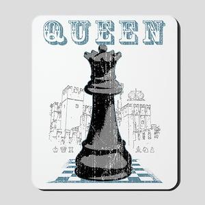 RB chess shirt queen blk Mousepad