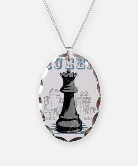 RB chess shirt queen blk Necklace