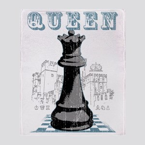 RB chess shirt queen blk Throw Blanket