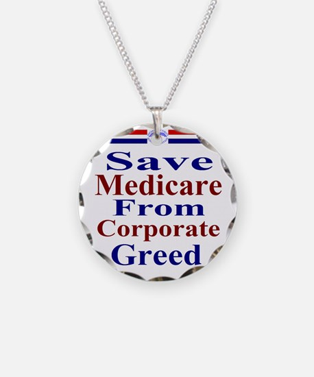 Save Medicare from Greed-rwb Necklace