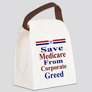 Save Medicare from Greed-rwb ss T Canvas Lunch Bag