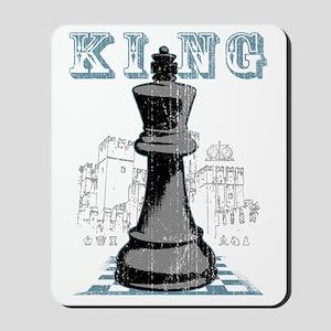 RB chess shirt king blk Mousepad