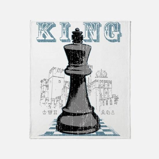 RB chess shirt king blk Throw Blanket