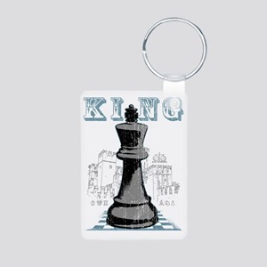 RB chess shirt king blk Aluminum Photo Keychain