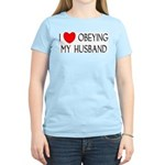 I LOVE OBEYING MY HUSBAND Women's Light T-Shirt