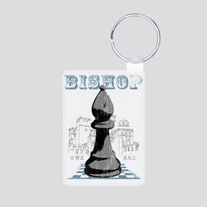 RB chess shirt bishop blk Aluminum Photo Keychain
