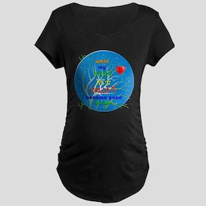 button abatena enate copy Maternity Dark T-Shirt