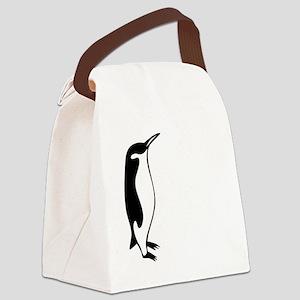 penguin3 Canvas Lunch Bag
