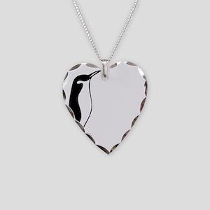 penguin3 Necklace Heart Charm