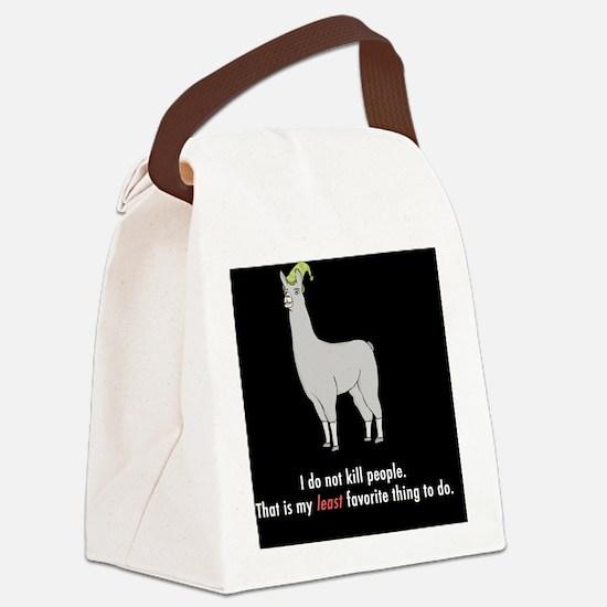 Llamas-D2r-Buttons Canvas Lunch Bag
