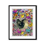 Stella Cat Butterflies Framed Panel Print