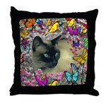 Stella Cat Butterflies Throw Pillow