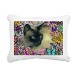 Stella Cat Butterflies Rectangular Canvas Pillow