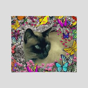 Stella Cat Butterflies Throw Blanket