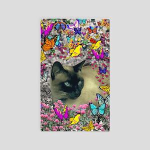 Stella Cat Butterflies 3'x5' Area Rug
