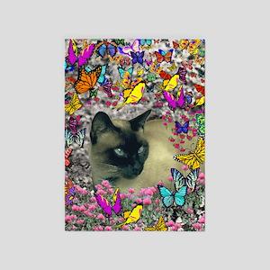 Stella Cat Butterflies 5'x7'Area Rug