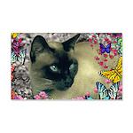 Stella Cat Butterflies 20x12 Wall Decal