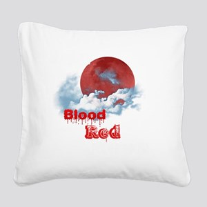 RedRidingHoodMovie Under a Bl Square Canvas Pillow