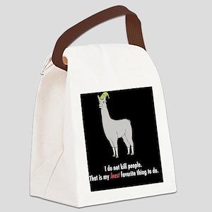 Llamas-D2r-Journal Canvas Lunch Bag