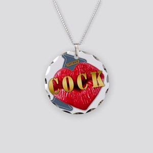 COCK---I-LOVE Necklace Circle Charm