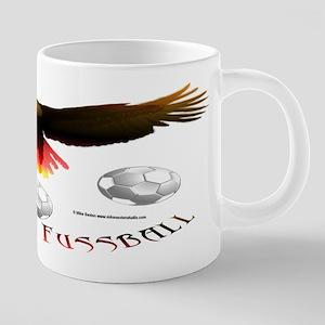 German Soccer Eagle 20 oz Ceramic Mega Mug