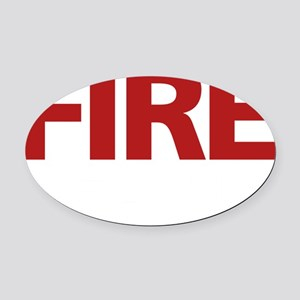 firerescue_text_dark_red Oval Car Magnet